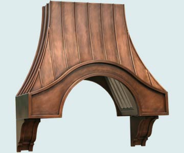 Custom Copper Range Hoods Eyebrow 3110