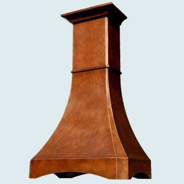 Custom Copper Range Hood #3115 | Handcrafted Metal Inc