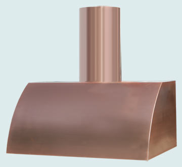 Custom Copper Range Hoods Single Roll 3119