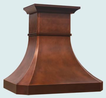 Custom Copper Range Hoods Tall French Country 3125