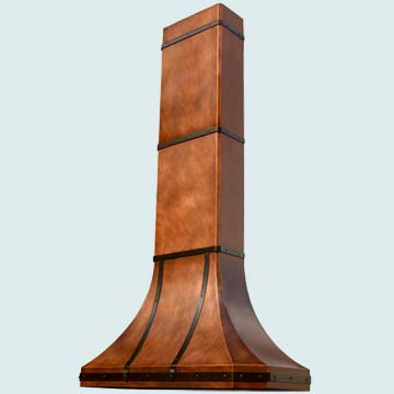 Custom Copper Range Hood #3128 | Handcrafted Metal Inc