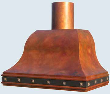 Custom Copper Range Hood #3136 | Handcrafted Metal Inc