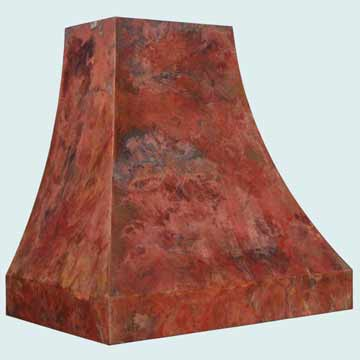 Custom Copper Range Hood #3144 | Handcrafted Metal Inc