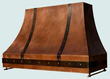 Custom Copper Range Hood #3148 | Handcrafted Metal Inc