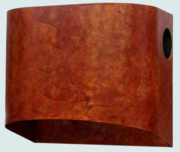 Custom Copper Range Hoods Cylinder 3150