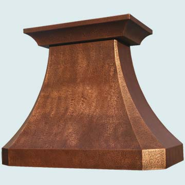 Custom Copper Range Hoods French Country 3153