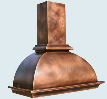 Custom Copper Range Hoods French Bell 3154