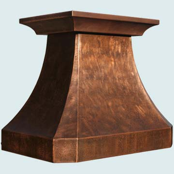 Custom Copper Range Hoods French Country 3159