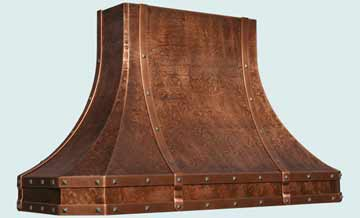 Custom Copper Range Hoods French Sweep 3161