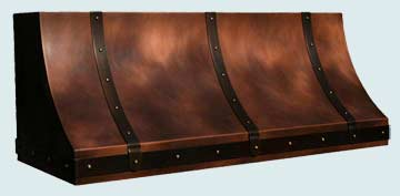 Custom Copper Range Hoods Sweep Front 3168