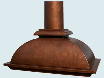 Custom Copper Range Hoods French Bell 3169