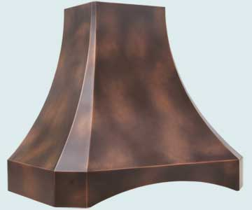 Custom Copper Range Hoods French Sweep 3173