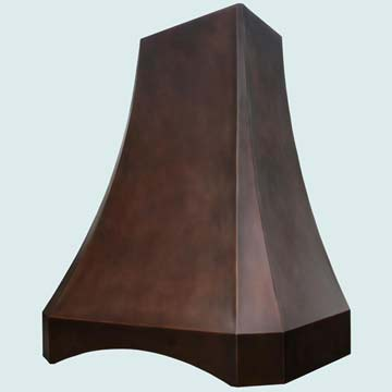 Custom Copper Range Hoods Tall French Sweep 3177