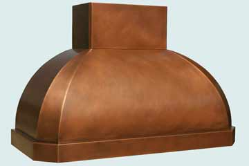 Custom Copper Range Hoods French Roll 3182