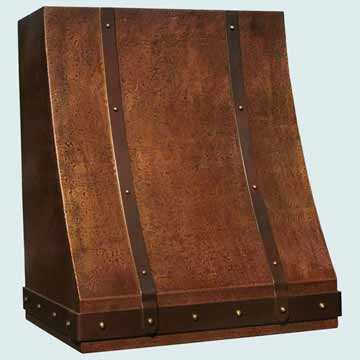 Custom Copper Range Hood #3185 | Handcrafted Metal Inc