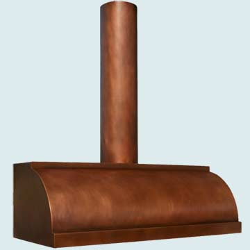 Custom Copper Range Hoods Single Roll 3195