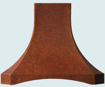 Custom Copper Range Hoods French Sweep 3196