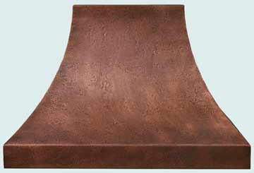 Custom Copper Range Hoods Double Sweep 3197