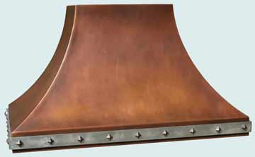 Custom Copper Range Hoods Double Sweep 3198