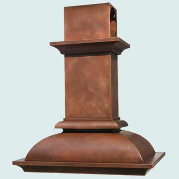 Custom Copper Range Hoods French Bell 3200
