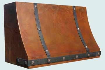 Custom Copper Range Hoods Sweep Front 3204