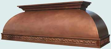 Custom Copper Range Hoods Double Roll 3208