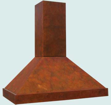 Custom Copper Range Hood #3214 | Handcrafted Metal Inc