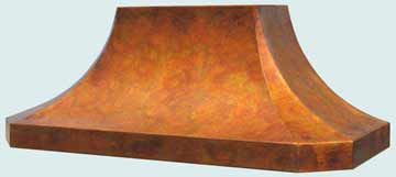 Custom Copper Range Hood #3218 | Handcrafted Metal Inc