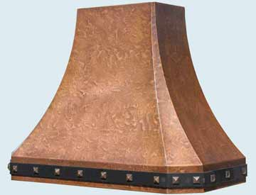 Custom Copper Range Hoods French Sweep 3219