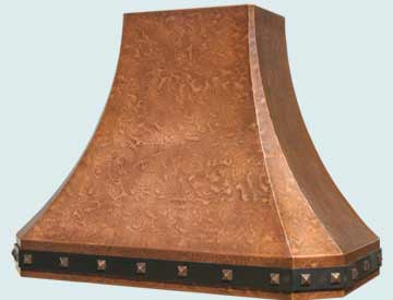 Custom Copper Range Hood #3219 | Handcrafted Metal Inc
