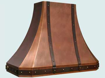 Custom Copper Range Hoods French Sweep 3220