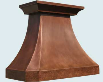 Custom Copper Range Hoods French Country 3229