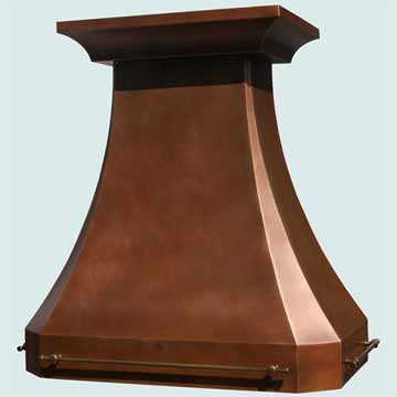 Custom Copper Range Hoods Tall French Country 3230