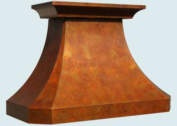 Custom Copper Range Hoods French Country 3231