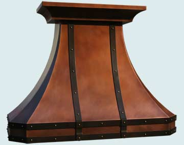 Custom Copper Range Hoods French Country 3238