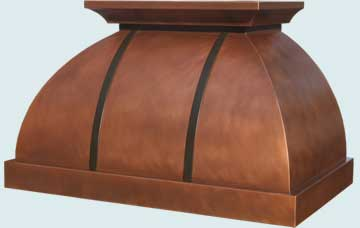 Custom Copper Range Hoods Double Roll 3242