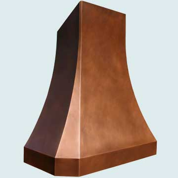 Custom Copper Range Hoods Tall French Sweep 3808