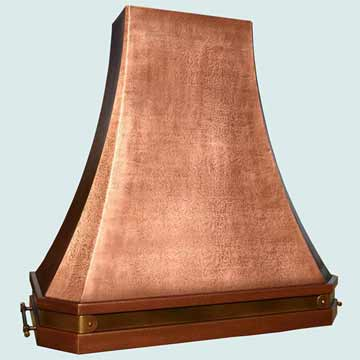 Custom Copper Range Hoods Tall French Sweep 3811
