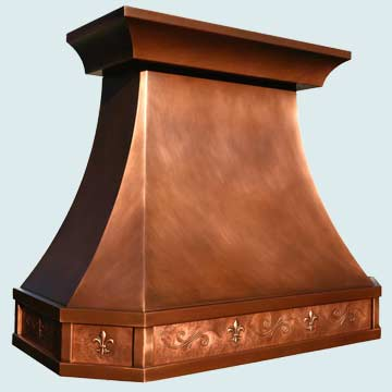 Custom Copper Range Hoods French Country 3812