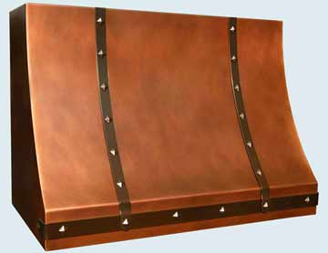 Custom Copper Range Hoods Sweep Front 3813