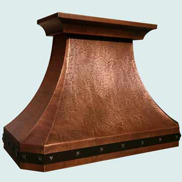 Custom Copper Range Hoods French Country 3814