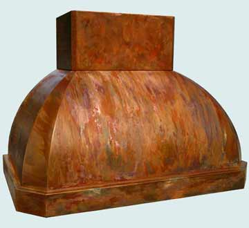 Custom Copper Range Hoods French Roll 3815