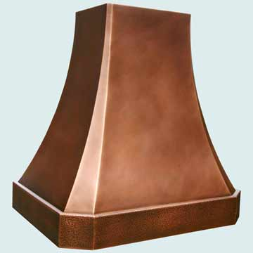 Custom Copper Range Hoods French Sweep 3816