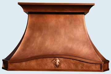 Custom Copper Range Hoods French Country 3821