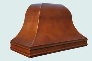 Custom Copper Range Hood #3822 | Handcrafted Metal Inc