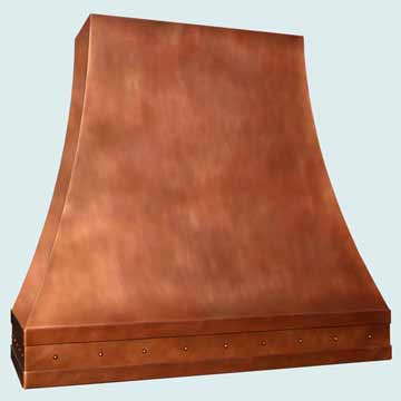 Custom Copper Range Hoods Double Sweep 3826