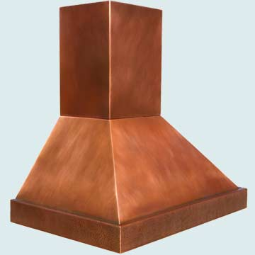 Custom Copper Range Hood #3827 | Handcrafted Metal Inc