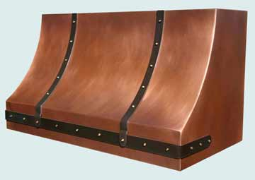 Custom Copper Range Hoods Sweep Front 3828