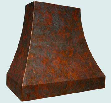 Custom Copper Range Hoods Double Sweep 3830