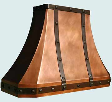 Custom Copper Range Hoods French Sweep 3847
